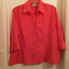 Joanna Plus Stretch, Ladies Top, Size 2X, Pretty Pink, 3/4 length sleeves NWOT
