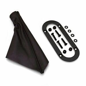 Emergency Brake Black Boot w/ Black Trim Ring for Lokar or Universal eBrake Kits