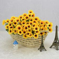 Fake Artificial 15 Heads Sunflower Flower Bouquet Floral Garden Home Decoration