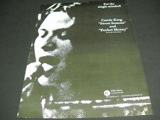 CAROLE KING for the Single Minded SWEET SEASONS & POCKET MONEY Promo Ad mint con