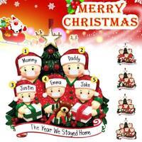 2020 Xmas Christmas Tree Hanging Ornaments Family Ornament Santa Claus Dec UK
