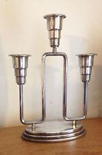 Sensational Wellner Germany Art Deco 3 Light Candelabra Alpacca Silver
