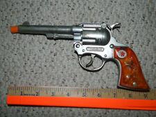 1960's Hubley WESTERN Toy Cowboy Diecast Cap Gun Pistol Orange Translucent Grips