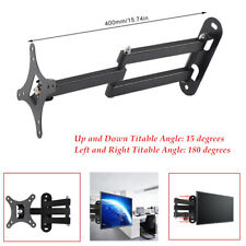 """TV LCD Monitor Wall Mount Articulating Bracket 14-27""""Telescopic Adjustable Stand"""