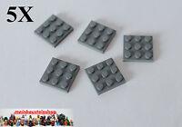 5X Lego® 11212 Basic Platte Plate 3X3 neues Dunkelgrau Dark Bluish Gray NEU