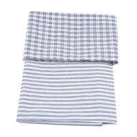 Cotton Napkins Stripe Handkerchief Cloth Wedding Banquet Dinner Table Decor WE
