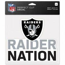"Las Vegas Raider Nation NFL 8""x8"" Decal Sticker Primary Team Logo Die Cut Car"
