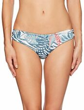 NWT Roxy Printed Strappy Love Reversible Bikini Bottom Olive Size S 403481