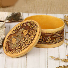Boite a bijoux en bois - Herisson - Boite Russe en écorce - Artisanat russe