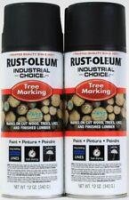 2 Rust-Oleum Industrial Choice 12 Oz Tree Marking 306514 Black Long Last Paint