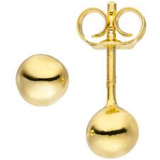 Ohrstecker Kugel 5 Mm 925 Silber Gold vergoldet Ohrringe Kugelohrstecker