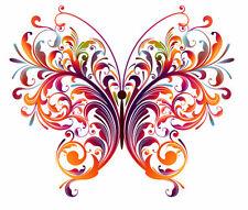 Vintage papillons-iron on transfert A5 taille