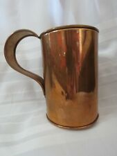 Old Dutch Style Solid Copper Beer Stein Handcrafted