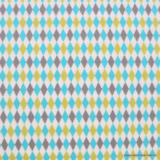 Lagoon Mini Harlequin Breeze for Michael Miller, 1/2 yard 100% cotton fabric