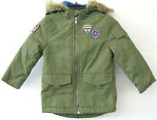 Epic Threads Boys Hooded Coat Jacket Sage Size 5 Faux Fur Zip NEW KD1311