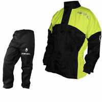 Richa Rain Warrior Motorcycle Jacket and Trouser All Weather Black/Fluo 100% WP