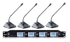 professional 4X100 Channels UHF wireless gooseneck conference microphone system