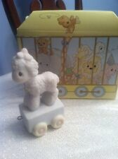 Precious Moments Birthday Series Train One Year Old Lamb With Box