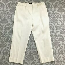 Jones New York Womens Pants size 16 new Off White Capris Cropped Ankle Stretch