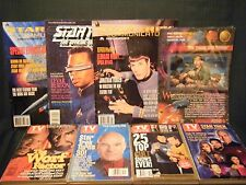 Lot of 7 Star Trek collectble magazines  TV Guides, Communicator, Fan Club