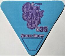 * Allman Brothers Band * After Show Satin Backstage Pass - Excellent - 2004