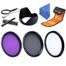 K&F Concept 67mm UV CPL FLD Lens Filter Kit Hood Keeper Camera for Canon Nikon