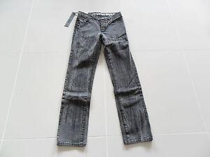 KREW K45165 CM BLACK LINES SLIM FIT COTTON MENS DENIM PANTS BLACK SIZE 30 NEW