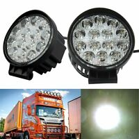 48W 4.3inch Spot Round Offroad Work LED Light Bar Driving DRL SUV 4WD Boat Truck