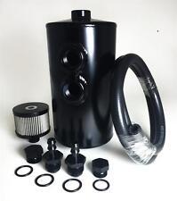 Dual Baffle Aluminum Oil Catch Can - Black