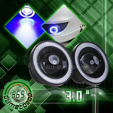 "Car 3.0"" Projector LED Fog Light Headlight with COB Blue Halo Angel Eye Rings"