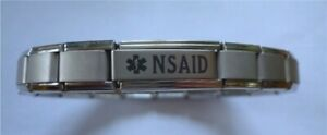 Italian Charms Non-steroidal anti-inflammatory drug NSAID Medical Alert Bracelet