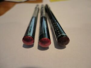 3 Avon ULTRA LUXURY PENCIL LIP LINER 2 ROSEBUD 1 CURRANT New/sealed discontinued