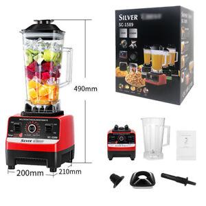 UK 3000W 2L Commercial Blender Food Processor Mixer Smoothie Juicer Ice Crusher