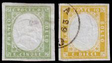 Sardinia Scott 10-11 (1862-63) Mint/Used H F-Vf, Cv $35.00 B