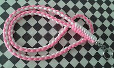ID-Badge,Neck-knife,keys(WHITE/ PINK-DIAMONDS)550-Paracord Neck Lanyard/Nite-Ize