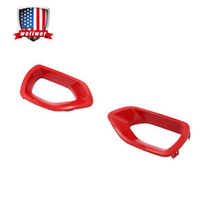 RED Upper Grille Intake Bezel Fit for 2015-2020 Dodge Charger SRT Scat Pack
