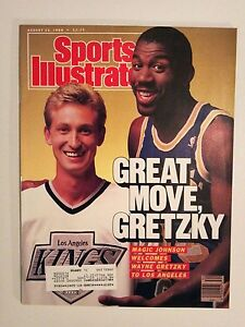August 22 1988 Sports Illustrated  Wayne Gretzky  Magic Johnson  LA Kings Lakers