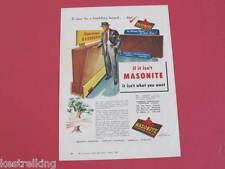Masonite Australia 1952 Original Full page Advertisement