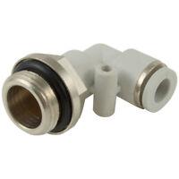 kelm rácores automáticos de plástico - 08mm x 1/8 BSPP gris conector macho elb