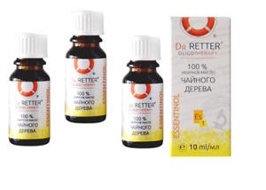 3,33 Eur/10ml) Dr. Retter - 3x Teebaum Öl Ätherisches, 3 x 10 ml