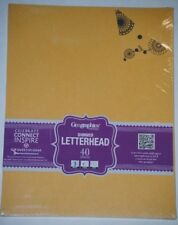 Geographics Dual Tone Gold Shimmer Letterhead, Letters, Invitations, Scrapbooks