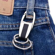 Ring Keyring Keychain Keyfob Key Ring Fashion Men's Metal Leather Car Key Chain