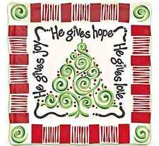 """""""He Gives All"""" Christmas Jesus Christian Platter Plate Burton & Burton 1451126"""
