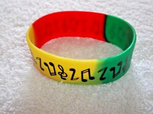 Ex-Display Rubber MUSICAL NOTE & TREBLE CLEF BRACELET Bangle Green Red Yellow
