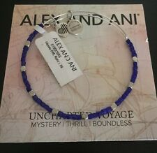 ALEX AND ANI UNCHARTED VOYAGE ODYSSEY RIPTIDE BLUE BEADED BANGLE NWT