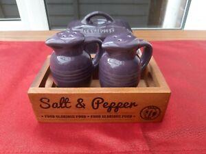 Le Creuset Purple Butter Dish / Salt & Pepper Set