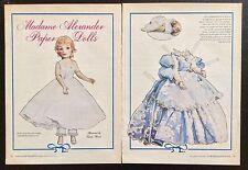 Jacqueline Madame Alexander Doll Magazine Paper Doll, 1989, National Doll World