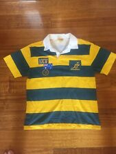 Wallabies Rugby Jersey Guernsey Vintage Retro Cooper Sports Top Size Large