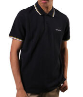 Polo uomo 100%Cotton Pique7.1oz CARHARTT WIP S/S SCRIPT EMBROIDERY I026244 Navy