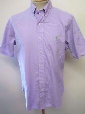 "Ralph Lauren POLO men's Purple Short Sleeved Casual Shirt M 38-40"" Euro 48-50"